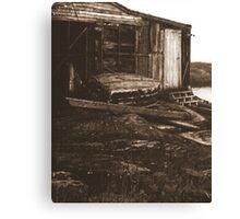 shed, nova scotia Canvas Print