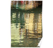 Abstract Water Reflection #1 Poster