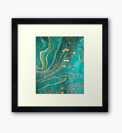 Underwater Gold Framed Print