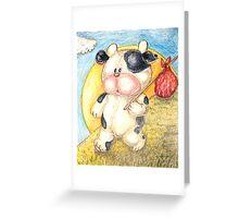 Moo Moo Cow Will Travel... Greeting Card