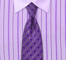 Mens Purple Pin Striped Shirt & Tie by HavenDesign