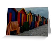 Beach dressing rooms Greeting Card