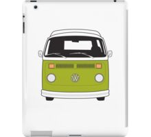 Late Bay VW Camper Green Front iPad Case/Skin
