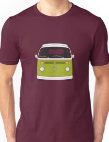Late Bay VW Camper Green Front Unisex T-Shirt