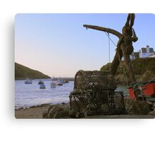 Cornwall: The Anchor and Some Pots at Port Isaac Canvas Print
