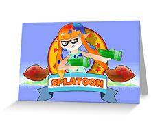 Splatoon X Sonic The Hedgehog Greeting Card