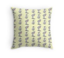 Elephant pattern funny mice Throw Pillow