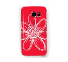 White Flower Samsung Galaxy Case/Skin