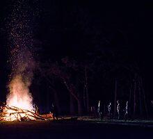 Evening Bonfire by Jeff Reynolds Photography