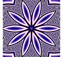 Blue Fractal Kaleidoscope 282 Photographic Print
