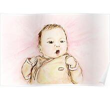 Baby Portrait Poster