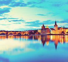 Prague at Dusk by giof