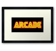 Retro Arcade Framed Print