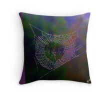 Fall Web Throw Pillow