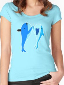 Sir Whale's High Five Tale Women's Fitted Scoop T-Shirt