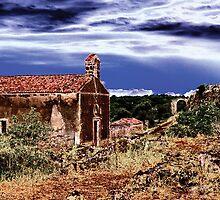 Church at the and of Town by Željko Jelenski