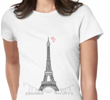 Tour Eiffel Womens Fitted T-Shirt