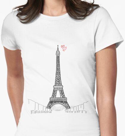 Tour Eiffel Womens Fitted T-Shirt