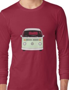 Late Bay VW Camper Pale Green Front Long Sleeve T-Shirt
