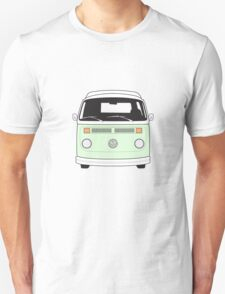Late Bay VW Camper Pale Green Front T-Shirt