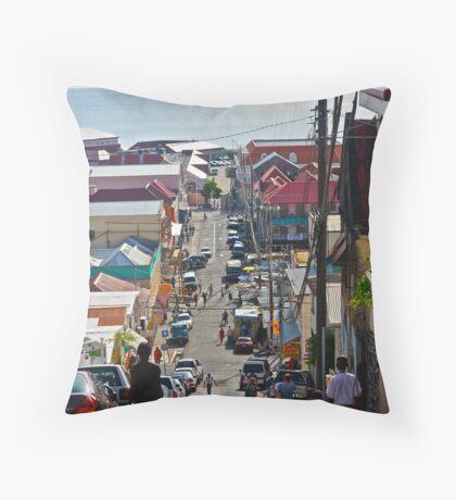 Down hill Throw Pillow