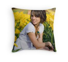 Amongst the Tulips #2 Throw Pillow