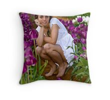 Amongst the Tulips #4 Throw Pillow