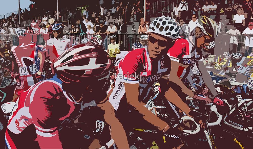 Norwegian Riders before start by terjekj