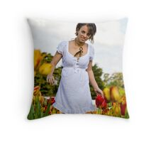 Tip-toe through the Tulips #1 Throw Pillow
