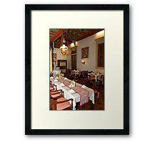 Traditional Javanese Restaurant Framed Print