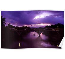 Grants Pass Bridge at dusk Poster
