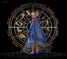 January .. Witch with astrology sign by LoneAngel