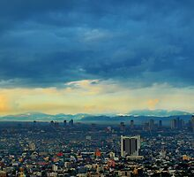 Mountains behind Makati City - Manila, Philippines by NeilAlderney