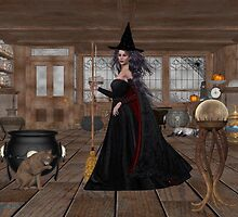 November .. A Witch in her spell shop  by LoneAngel