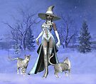December  .. A Witch with her cats by LoneAngel