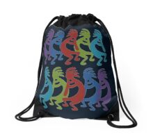 Tribal Kokopelli Drawstring Bag