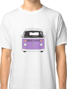 Late Bay VW Camper Purple Front Classic T-Shirt