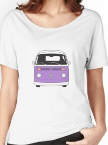 Late Bay VW Camper Purple Front Women's Relaxed Fit T-Shirt