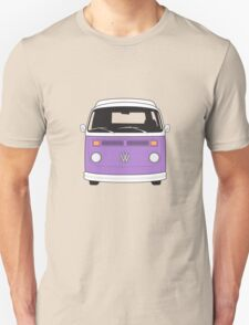Late Bay VW Camper Purple Front Unisex T-Shirt
