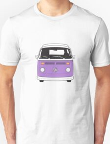 Late Bay VW Camper Purple Front T-Shirt