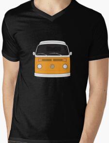 Late Bay VW Camper Orange Front Mens V-Neck T-Shirt