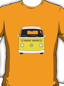 Late Bay VW Camper Yellow Front T-Shirt