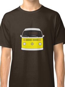Late Bay VW Camper Yellow Front Classic T-Shirt