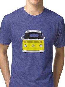 Late Bay VW Camper Yellow Front Tri-blend T-Shirt
