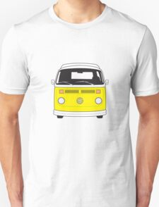 Late Bay VW Camper Yellow Front Unisex T-Shirt