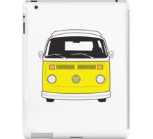 Late Bay VW Camper Yellow Front iPad Case/Skin