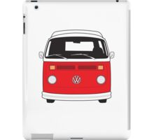 Late Bay VW Camper Red Front iPad Case/Skin