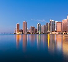 Miami Skyline at Sunrise by giof