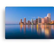 Miami Skyline at Sunrise Canvas Print