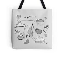 Cactus Mountain black&white Tote Bag
